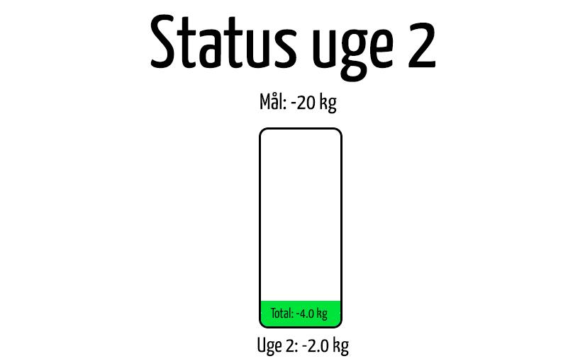 Status efter uge 2