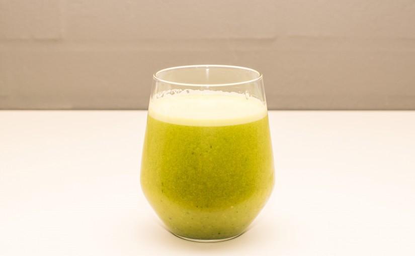 Grøn juice med et kick